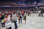 Supporters of U.S. President Donald Trump wait for him to appear, 25 minutes before he was scheduled to speak, at his first re-election campaign rally in several months in the midst of the coronavirus disease (COVID-19) outbreak, at the BOK Center in Tulsa, Oklahoma, U.S., June 20, 2020