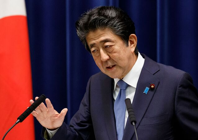 Japanese Prime Minister Shinzo Abe speaks at a news conference at the prime minister's official residence in Tokyo, Japan June 18, 2020.