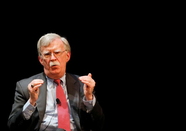 FILE PHOTO: Former U.S. national security advisor John Bolton speaks during his lecture at Duke University in Durham, North Carolina, U.S. February 17, 2020.   REUTERS/Jonathan Drake/File Photo