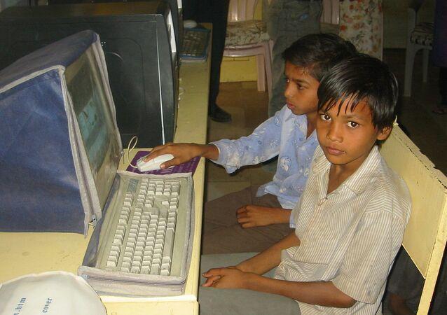 Computer education boys Gujarat