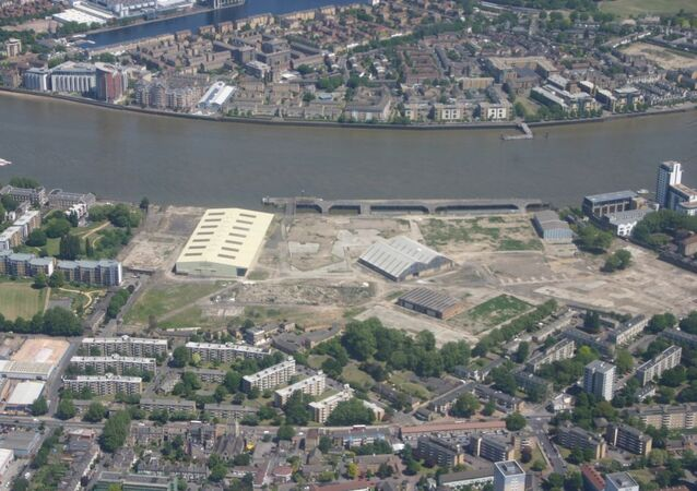 The derelict Deptford dockyard in south east London - where King Charles II built Britain's first great Royal Navy fleet in the 17th century.