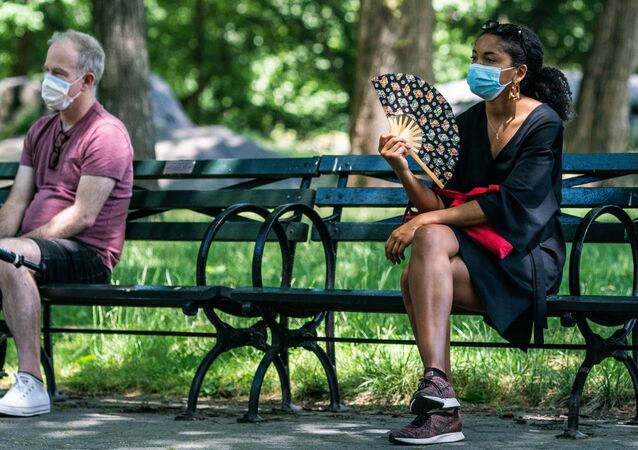 People enjoy the weather in Central Park, the day before the city starts phase two of reopening after the lockdown due to the coronavirus disease (COVID-19), in the Manhattan borough of New York City, U.S., June 21, 2020.