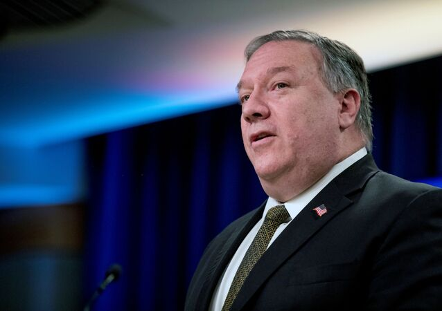Secretary of State Mike Pompeo attends a news conference at the State Department in Washington, DC, U.S., June 10, 2020.