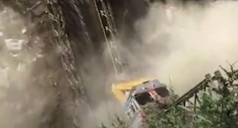 Bridge Collapses Near India-China Border In Uttarakhand