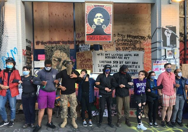 Seattle protesters against racism and police brutality in June 2020