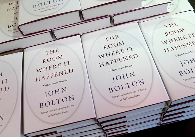 Copies of John Bolton's book 'The Room Where It Happened' are pictured on display at a Barnes and Noble bookstore in the Manhattan borough of New York City, New York, U.S., June 23, 2020.