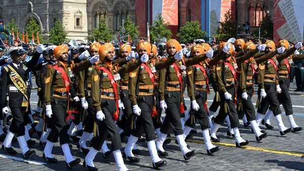 Indian army takes part in a military parade to mark the 75th anniversary of Victory in the Great Patriotic War of 1941-1945 in Red Square in Moscow. - Sputnik International