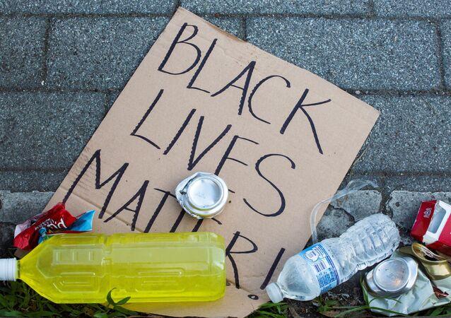 Black Lives Matter's banner
