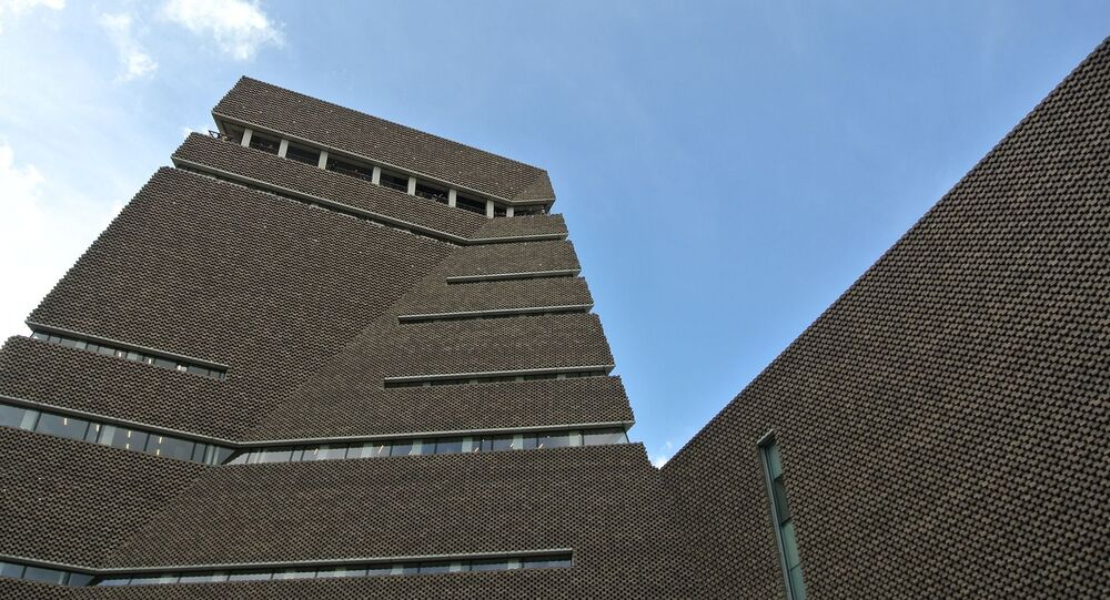 The boy was thrown from the 10th floor balcony at the Tate Modern (pictured)