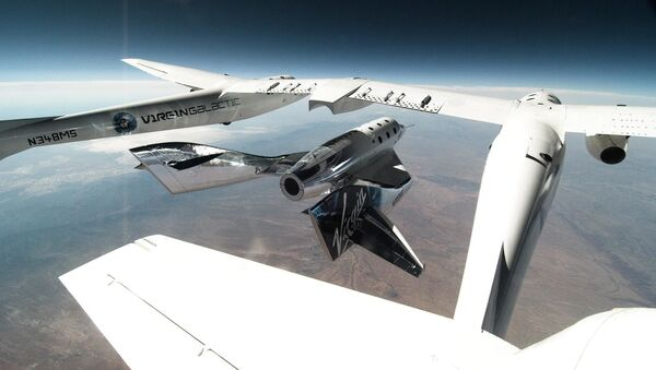 Virgin Galactic's SpaceShipTwo Unity Released From VMS Eve for Second Glide Flight in New Mexico on 25 June 2020 - Sputnik International