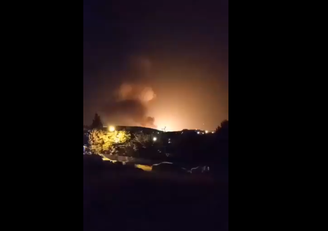 Closer view of explosion that occurred this evening in #Tehran, #Iran.