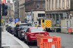 Emergency respoders are seen near a scene of reported stabbings, in Glasgow, Scotland, Britain June 26, 2020, in this picture obtained from social media