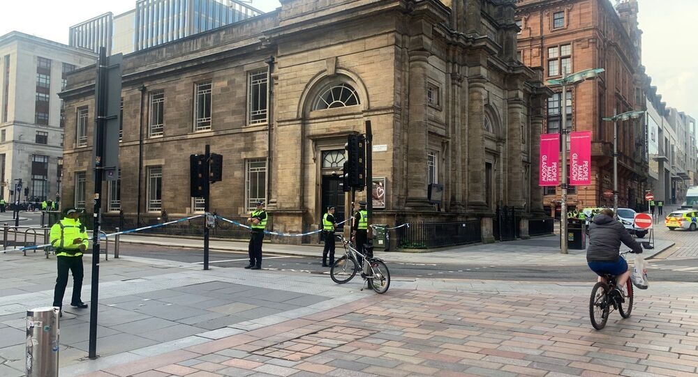 The scene in the centre of Glasgow after the stabbing incident on 26 June 2020.