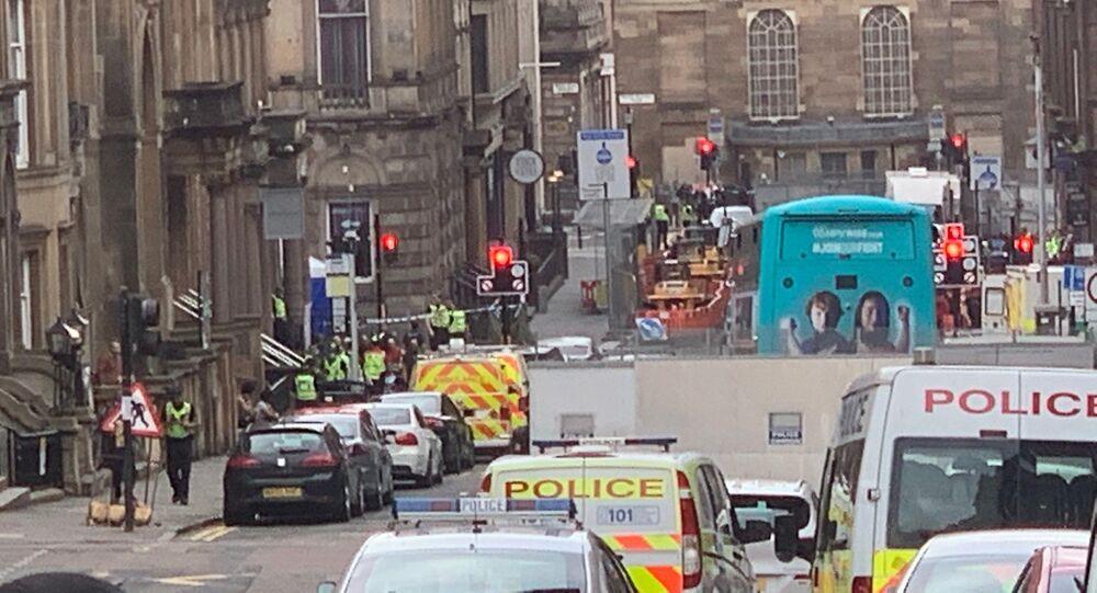 Police Presence on West George Street, Glasgow