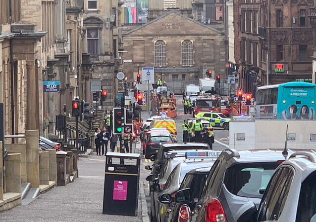 Police Presence on West George Street, Glasgow