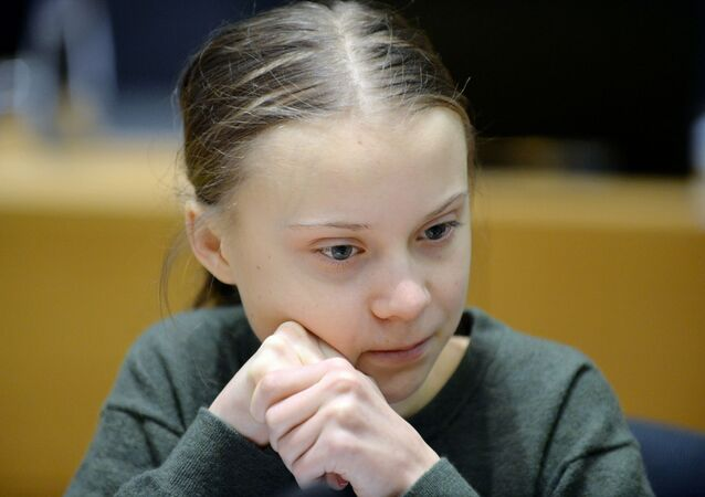 Swedish climate activist Greta Thunberg looks on before the meeting with EU environment ministers in Brussels, Belgium, March 5, 2020.