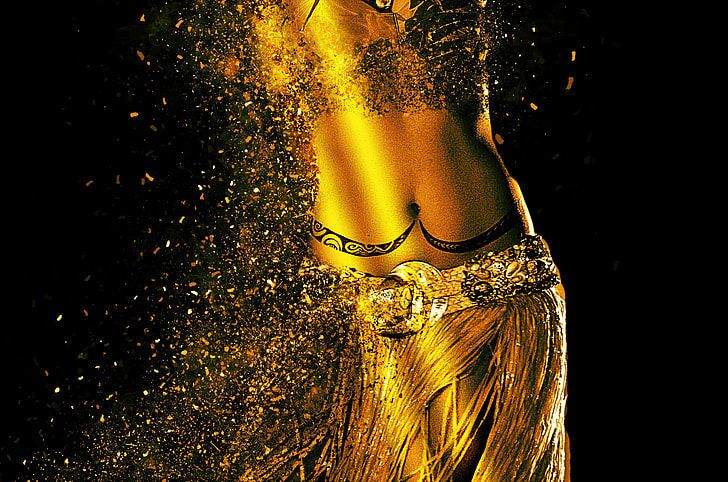 Woman belly dancer