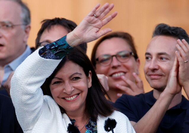 Paris mayor Anne Hidalgo reacts to the results of the second round of the mayoral elections, which were delayed due to the coronavirus disease (COVID-19) outbreak, in Paris, France, June 28, 2020.