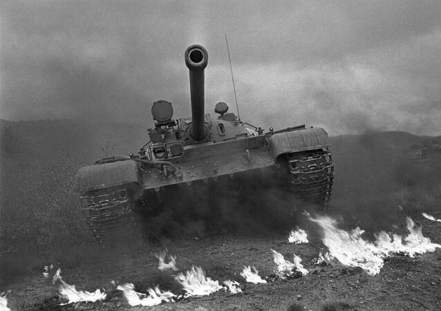 T-55 medium tank during Soviet Army drills. File photo.