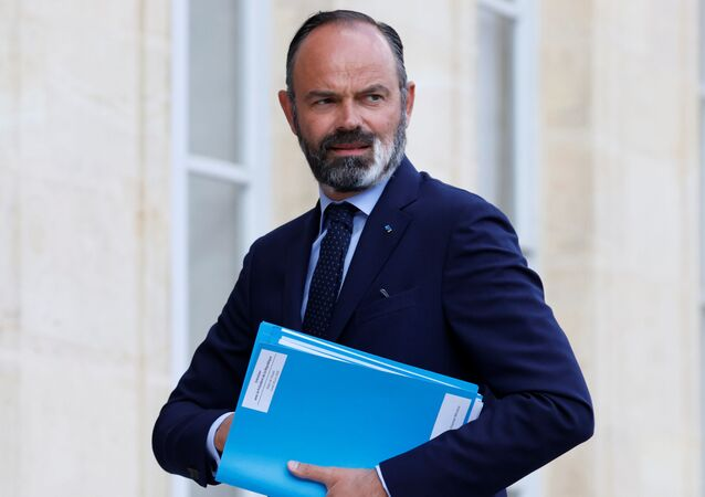 French Prime Minister Edouard Philippe arrives for a meeting with members of the Citizens' Convention on Climate (CCC), to discuss over environment proposals at the Elysee Palace in Paris, France June 29, 2020.