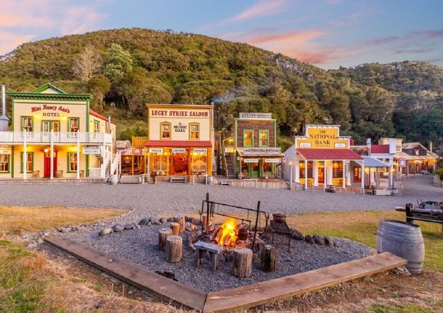 New Zealand old west town Mellonsfolly Ranch