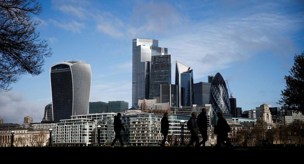 The City of London financial district can be seen in London, Britain, March 9 2020.