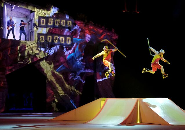 Artists perform during Cirque du Soleil's Crystal show in Riga, Latvia January 15, 2020.