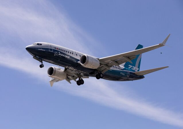 A Boeing 737 MAX airplane lands after a test flight at Boeing Field in Seattle, Washington, U.S. June 29, 2020