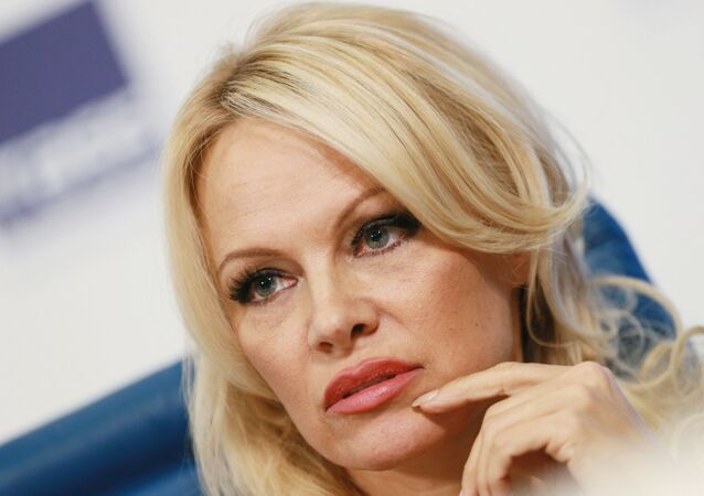 Pamela Anderson, member of the advisory board of the IFAW in Russia, at a press conference on the activities of the fund.