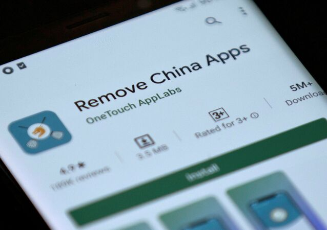 Remove China Apps is seen in the Google Play store on a mobile phone