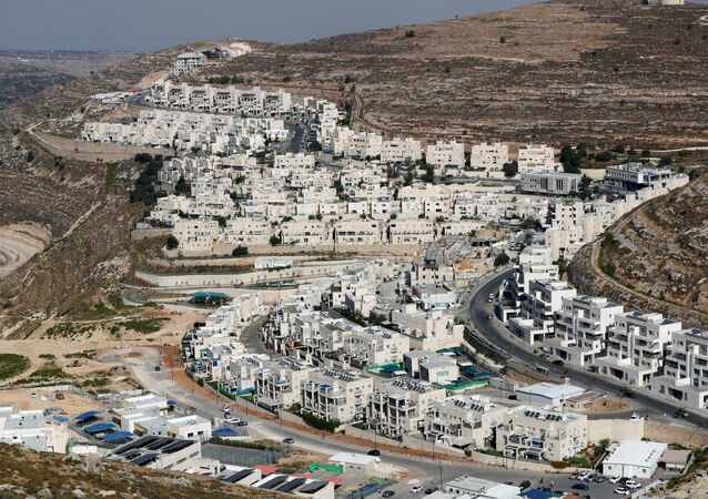 A view shows Israeli settlement buildings around Givat Zeev and Ramat Givat Zeev in the Israeli-occupied West Bank, near Jerusalem June 30, 2020