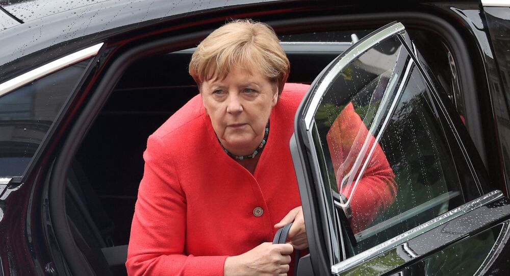 German Chancellor Angela Merkel arrives to attend a session of the lower house of parliament Bundestag, in Berlin, Germany July 1, 2020.