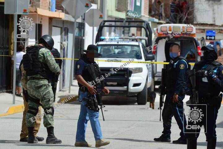 Security forces are seen after gunmen opened fire on a drugs rehabilitation center in Irapuato, Guanajuato, Mexico, June 6, 2020 in this picture obtained from social media. Picture taken June 6, 2020