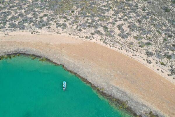A general view of the area where researchers from Flinders University, the University of Western Australia, and James Cook University discovered underwater artefacts dating back thousands of years, when the seabed was dry land, in Australia, 2019. - Sputnik International