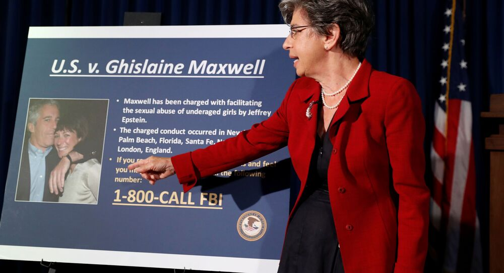 Audrey Strauss, Acting United States Attorney for the Southern District of New York speaks at a news conference announcing charges against Ghislaine Maxwell
