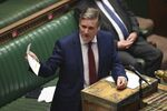 In this handout photo provided by UK Parliament, Britain's Labour leader Keir Starmer speaks during Prime Minister's Questions in the House of Commons, London, Wednesday, June 24, 2020.