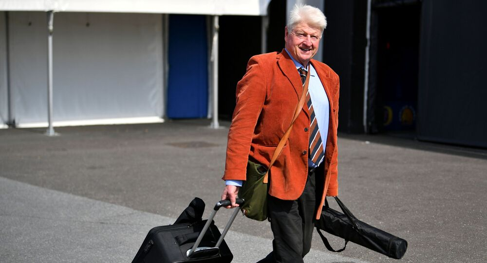 PM's father Stanley Johnson's visit to Greece angers MPs