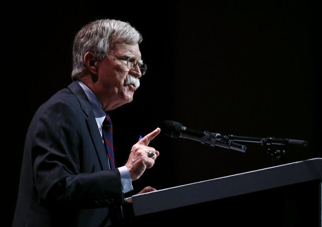 National security adviser John Bolton speaks at the Christians United for Israel's annual summit, Monday, July 8, 2019, in Washington