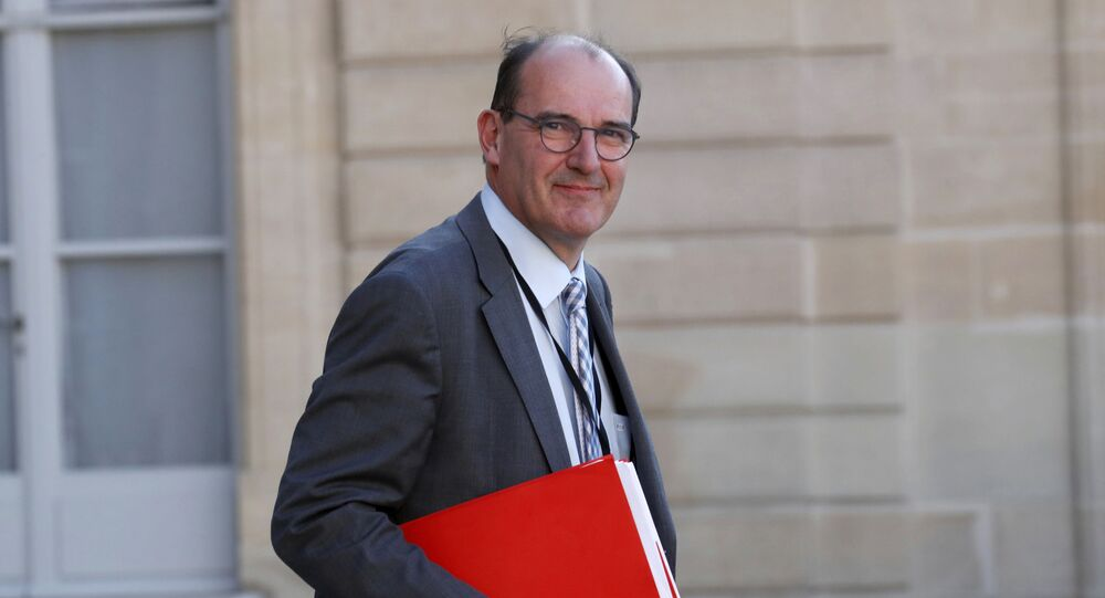 French government deconfinement coordinator Jean Castex leaves after a videoconference with the French President and French mayors at the Elysee Palace in Paris after the country began a gradual end to the nationwide lockdown following the coronavirus disease (COVID-19) outbreak in France, Tuesday May 19, 2020