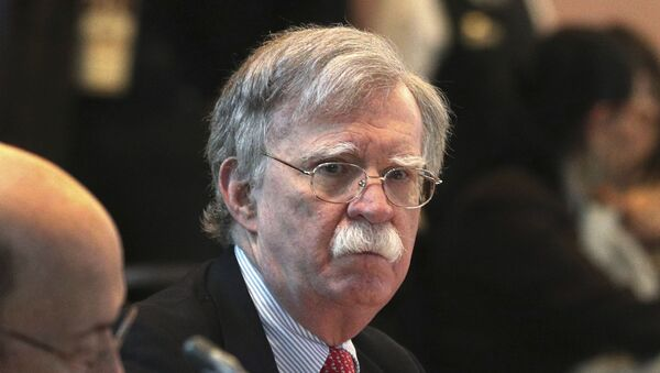 U.S. National security adviser John Bolton, attends a conference of more than 50 nations that largely support Venezuelan opposition leader Juan Guaido in Lima, Peru, Tuesday, Aug. 6, 2019 - Sputnik International