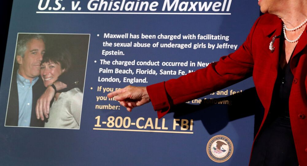 Audrey Strauss, Acting United States Attorney for the Southern District of New York speaks at a news conference announcing charges against Ghislaine Maxwell for her role in the sexual exploitation and abuse of underage girls by Jeffrey Epstein in New York City, 2 July 2020