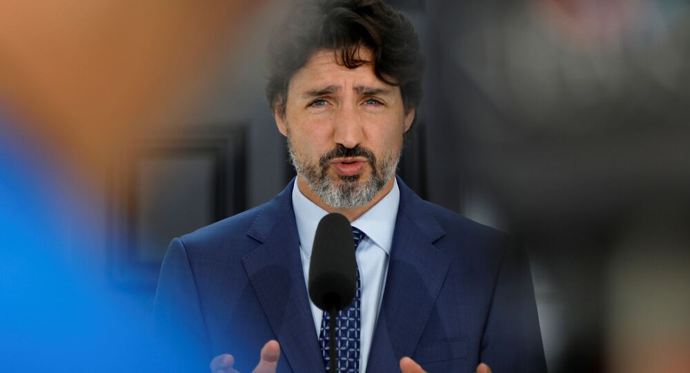 Canada's Prime Minister Justin Trudeau attends a news conference at Rideau Cottage, as efforts continue to help slow the spread of coronavirus disease (COVID-19), in Ottawa, Ontario, Canada June 22, 2020.