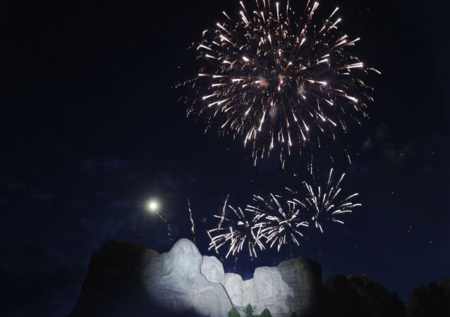 South Dakota's U.S. Independence Day Mount Rushmore fireworks celebrations seen at Mt. Rushmore in Keystone, South Dakota, U.S., July 3, 2020