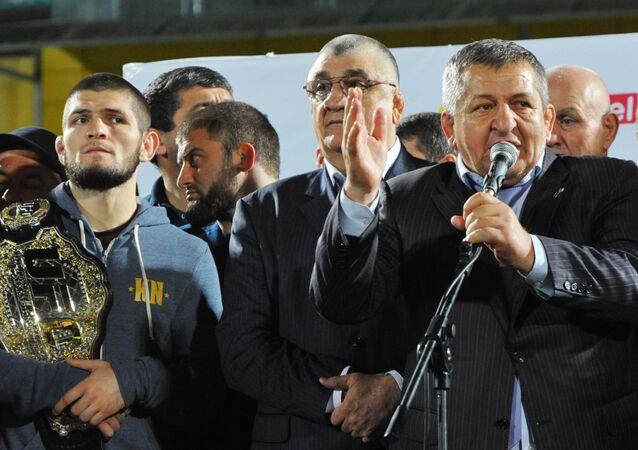 Abdulmanap Nurmagomedov, the father and coach of UFC champion Khabib Nurmagomedov
