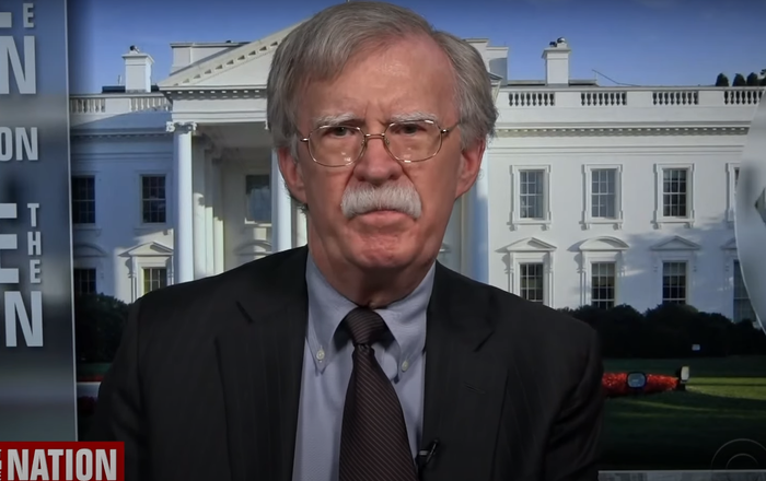 Screenshot of John Bolton's interview to CBS's 'Face The Nation', 5 July 2020