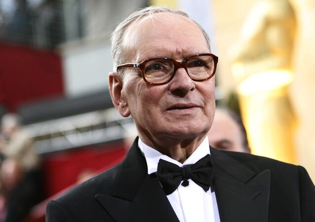 Italian composer Ennio Morricone arrives at the 79th Annual Academy Awards in Hollywood, California February 25, 2007