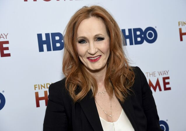 In a Wednesday, 11 December 2019 file photo, author and Lumos Foundation founder J.K. Rowling attends the HBO Documentary Films premiere of Finding the Way Home at 30 Hudson Yards, in New York.