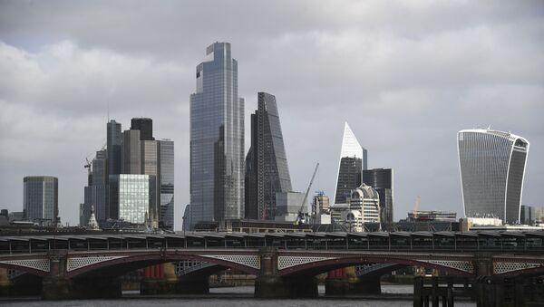 Skyline of City of London on a cloudy day - Sputnik International