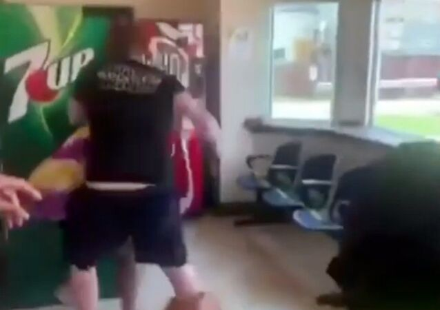 Violent brawl breaks out the Nia Center in Louisville, Kentucky, after a white woman reportedly spat on a Black woman at the center.