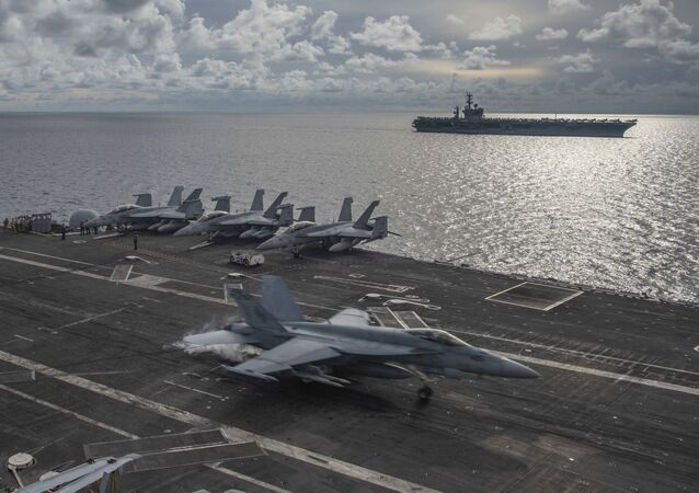 USS Ronald Reagan (CVN 76), as USS Nimitz (CVN 68) in the South China Sea